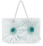 Gerber Daisy Flowers In Teal Weekender Tote Bag