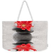 Gerbera Reflection Weekender Tote Bag by Delphimages Photo Creations