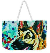 German Shepard Watercolor Weekender Tote Bag