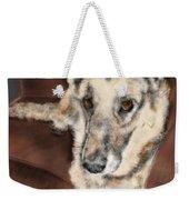 German Shepherd On Couch Weekender Tote Bag