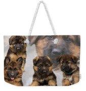 German Shepherd Puppy Collage Weekender Tote Bag
