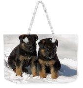 German Shepherd Pups Weekender Tote Bag by Aimee L Maher Photography and Art Visit ALMGallerydotcom