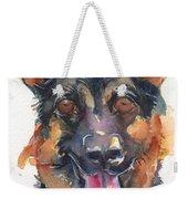 German Shepherd Watercolor Weekender Tote Bag