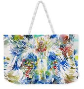 German Shepherd - Watercolor Portrait Weekender Tote Bag