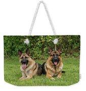 German Shepherds - Mother And Son Weekender Tote Bag