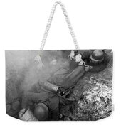 German Soldiers Launch A Suprise Attack On Bunker 17. Weekender Tote Bag