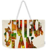 Germany Typographic Watercolor Map Weekender Tote Bag