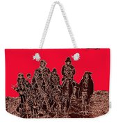 Geronimo And Family Surrendering Collage Number 1 C.s. Fly 1887-2012 Weekender Tote Bag
