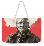 Geronimo Portrait R. Rinehart Photo Omaha Nebraska 1898-2013 Weekender Tote Bag