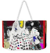 Geronimo's Wife Ta-ayz-slath And Child Unknown Date Collage 2012 Weekender Tote Bag