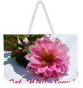 Get Well Soon - Louise Dahlia - Pink Flower Weekender Tote Bag