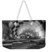 Getting Inflated-bw Weekender Tote Bag