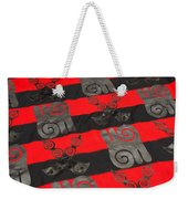 Ghana In Red And Black Weekender Tote Bag