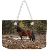 Ghost Forest Stallion Weekender Tote Bag