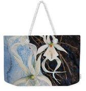 Ghost Orchid Blooming Weekender Tote Bag