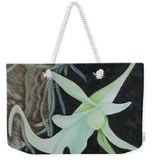 Ghost Orchid On A Palm Tree Weekender Tote Bag
