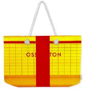 Ghost Station In Red And Yellow Weekender Tote Bag