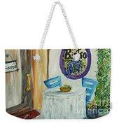 Gianni's Bistro Weekender Tote Bag by Eloise Schneider