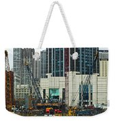 Downtown Chicago High Rise Construction Site Weekender Tote Bag