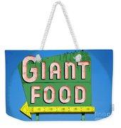Giant Food Weekender Tote Bag