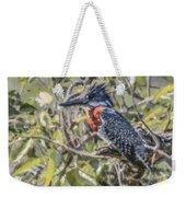Giant Kingfisher Weekender Tote Bag