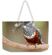 Giant Kingfisher Megaceryle Maxima Weekender Tote Bag