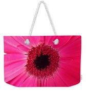 Flower Photography - Giant Pink Gerbera Daisy Weekender Tote Bag