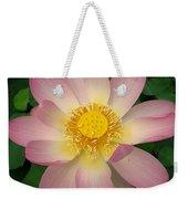 Giant Pink Lotus Weekender Tote Bag