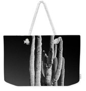 Giant Saguaro Cactus Portrait In Black And White Weekender Tote Bag