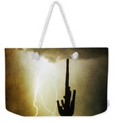 Giant Saguaro Lightning Spiral Fine Art Photography Print Weekender Tote Bag