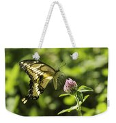 Giant Swallowtail On Clover 2 Weekender Tote Bag