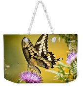Giant Swallowtail On Thistle Weekender Tote Bag
