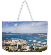 Gibraltar City And Bay Weekender Tote Bag