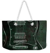 Gibson Sg Standard Green Grunge With Skull Weekender Tote Bag