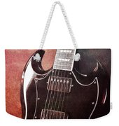 Gibson Sg Standard Red Grunge Weekender Tote Bag