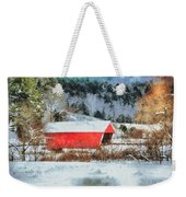 Gifford Covered Bridge In Winter Weekender Tote Bag
