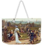 Gilbert A Beckets Troth The Saracen Maiden Entering London At Sundow  Weekender Tote Bag by George John Pinwell