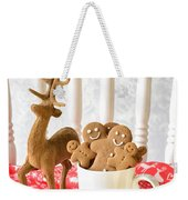 Gingerbread Family At Christmas Weekender Tote Bag