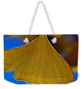 Gingko Leaf Losing Chlorophyll Weekender Tote Bag