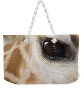 Giraffe Eye Weekender Tote Bag