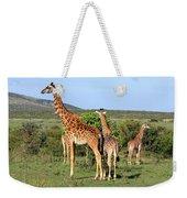 Giraffe Group On The Masai Mara Weekender Tote Bag