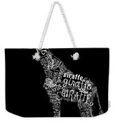 Giraffe Is The Word Weekender Tote Bag