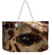 Giraffe Look Into My Eye Weekender Tote Bag