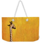 Giraffe Looking Back Weekender Tote Bag