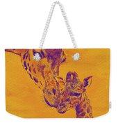Giraffe Love Weekender Tote Bag by Jane Schnetlage