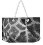 Giraffe Pattern Black And White Weekender Tote Bag