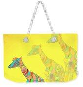 Giraffe X 3 - Yellow - The Card Weekender Tote Bag