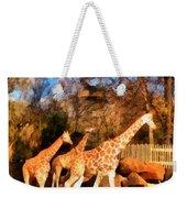 Giraffes At The Zoo Weekender Tote Bag