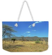 Giraffes In Samburu National Reserve Weekender Tote Bag