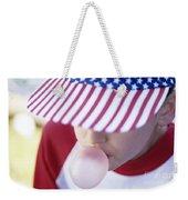 Girl American Baseball Cap Weekender Tote Bag